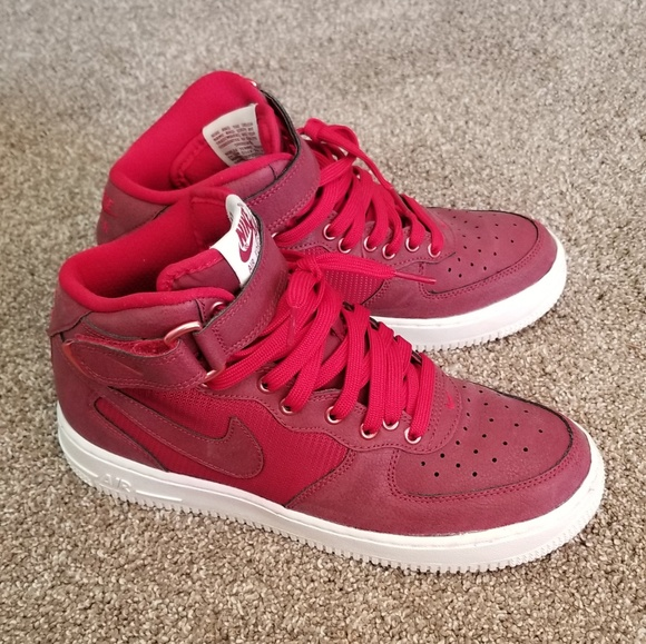 New ! Red Nike!! Air force 1 MID LV8 (GS) 6.5 NWT